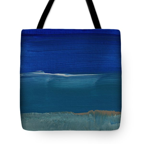 Soft Crashing Waves- Abstract Landscape Tote Bag by Linda Woods