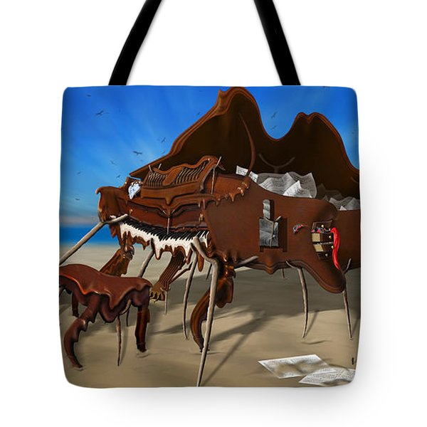 Soft Grand Piano With Camera - Panoramic Tote Bag by Mike McGlothlen