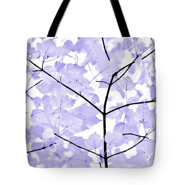 Soft Lavender Leaves Melody Tote Bag by Jennie Marie Schell