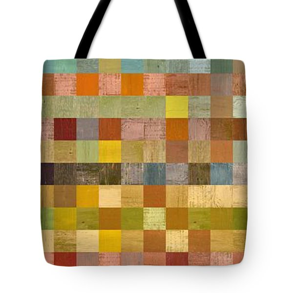 Soft Palette Rustic Wood Series Collage Lll Tote Bag by Michelle Calkins