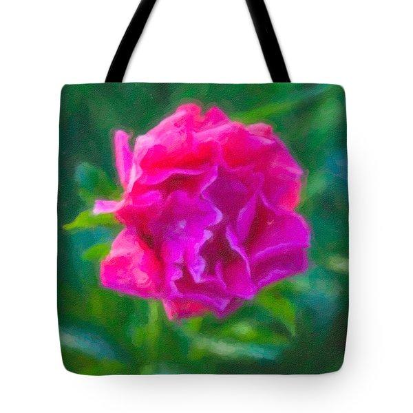 Soft Pink Peony Tote Bag by Omaste Witkowski