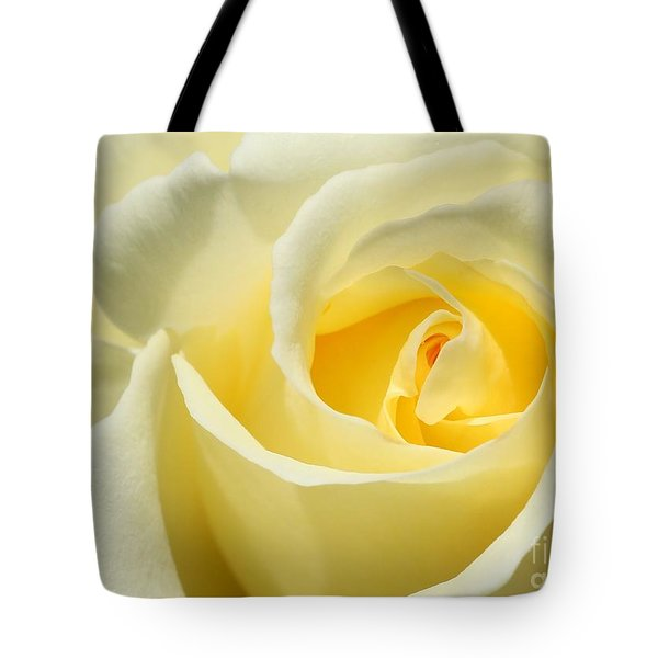 Soft Yellow Rose Tote Bag by Sabrina L Ryan