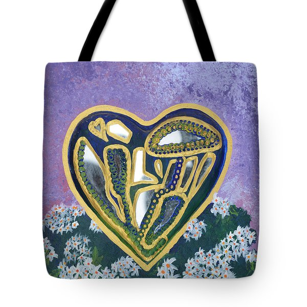 Softened Heart Best Reflections Energy Collection Tote Bag by Catt Kyriacou