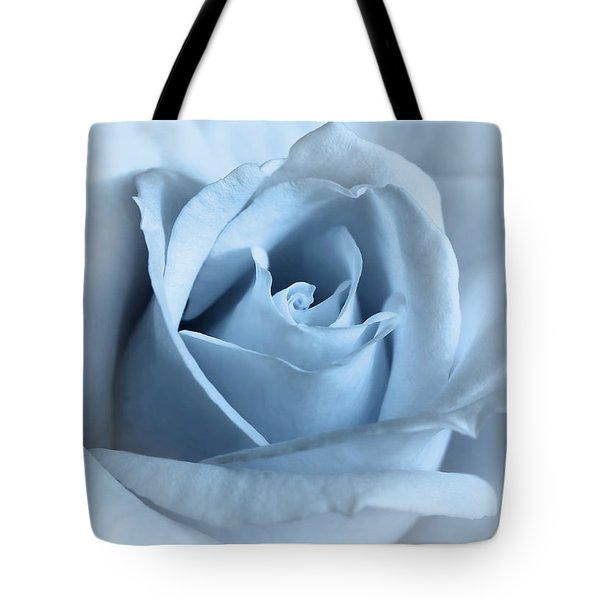 Softness Of A Blue Rose Flower Tote Bag by Jennie Marie Schell