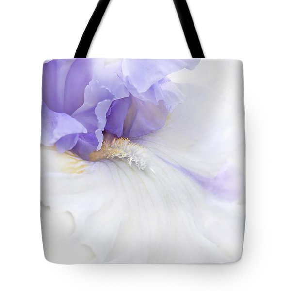 Softness of a Lavender Iris Flower Tote Bag by Jennie Marie Schell