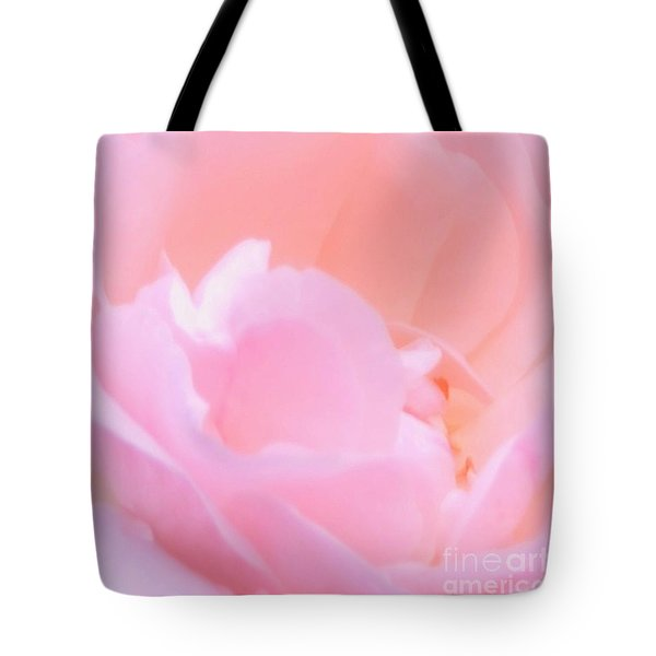 Softness Of A Rose Tote Bag by Kathleen Struckle