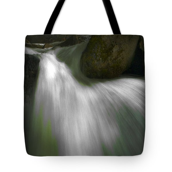 Softwater Of Cascade Creek Tote Bag by Bill Gallagher