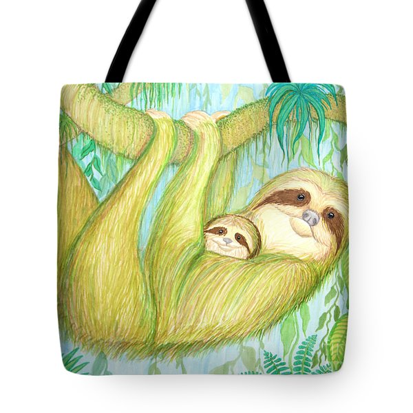 Soggy Mossy Sloth Tote Bag by Nick Gustafson