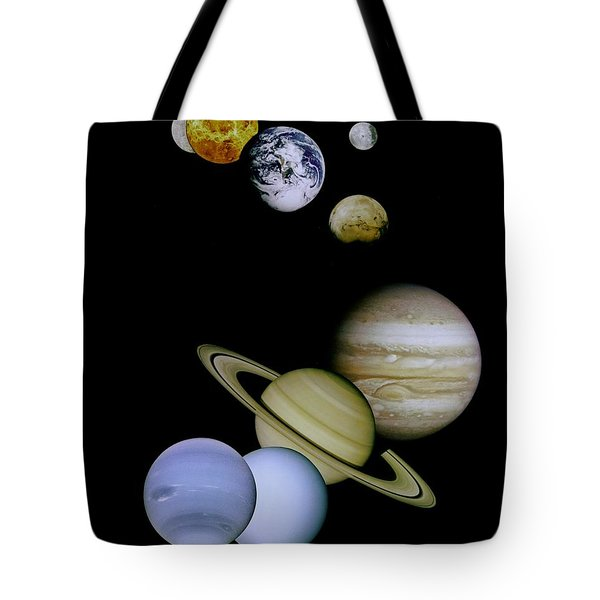 Solar System Montage Tote Bag by Movie Poster Prints