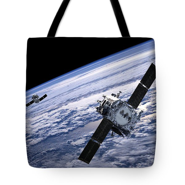 Solar Terrestrial Relations Observatory Satellites Tote Bag by Anonymous
