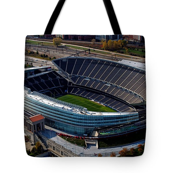Soldier Field Chicago Sports 06 Tote Bag by Thomas Woolworth