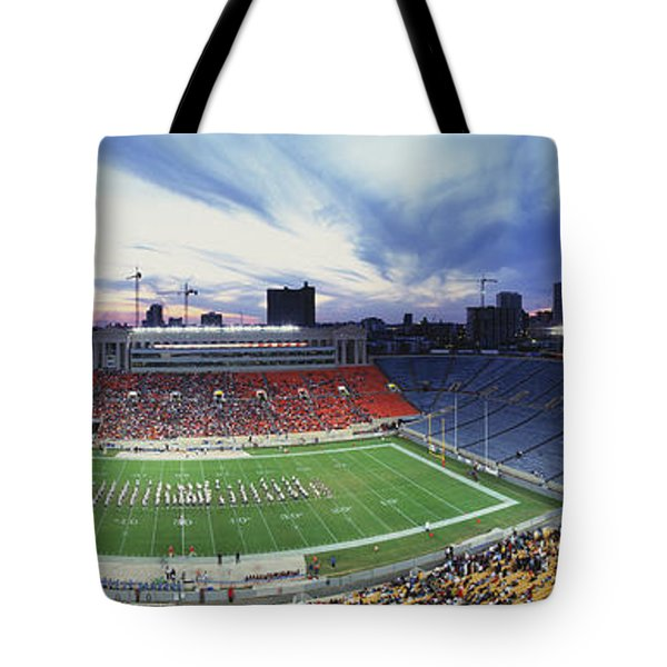 Soldier Field Football, Chicago Tote Bag by Panoramic Images