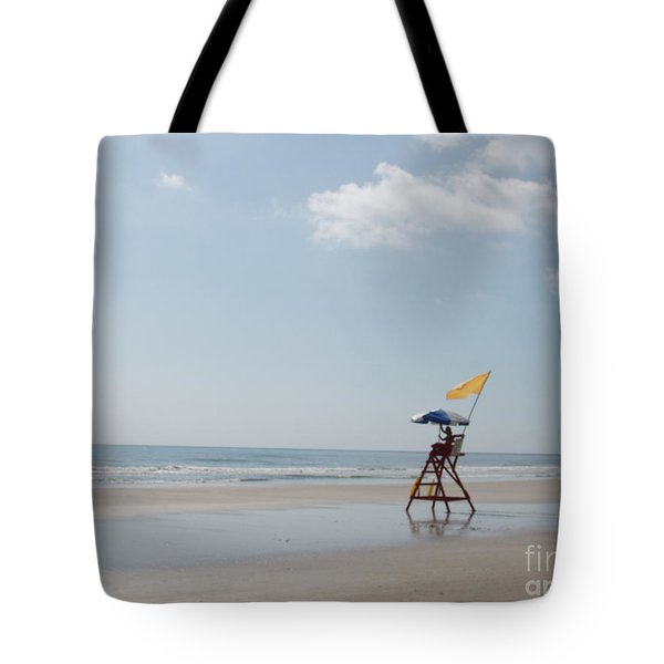 Solitary Watch Man Tote Bag by Audrey Peaty
