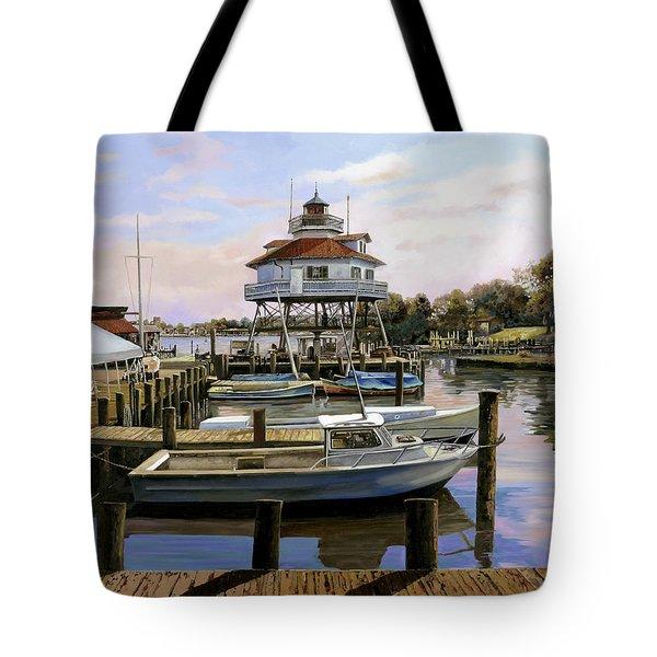 Solomon's Island Tote Bag by Guido Borelli