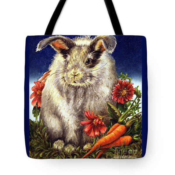 Some Bunny Is A Fuzzy Wuzzy Tote Bag by Linda Simon