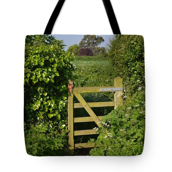 Somerset Countryside Gate Uk Tote Bag by Rene Triay Photography