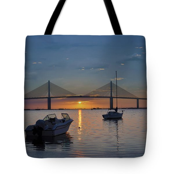Something About a Sunrise Tote Bag by Bill Cannon
