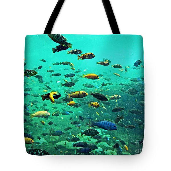 Something Fishy Tote Bag by Kevin Fortier