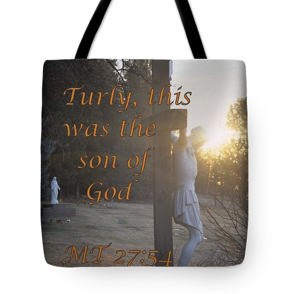 Son Of God Tote Bag by Sharon Elliott