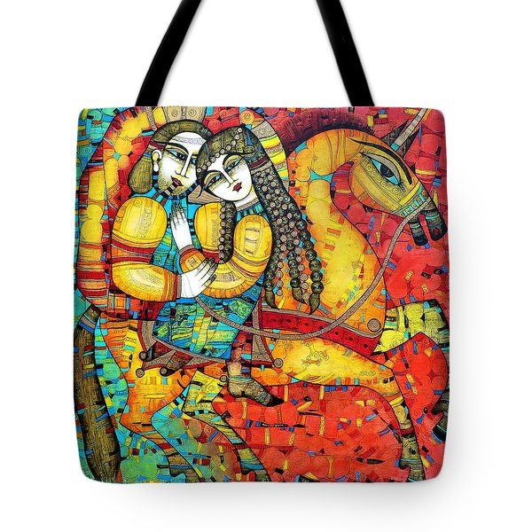 Sonata For Two And Unicorn Tote Bag by Albena Vatcheva
