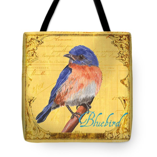 Colorful Songbirds 1 Tote Bag by Debbie DeWitt