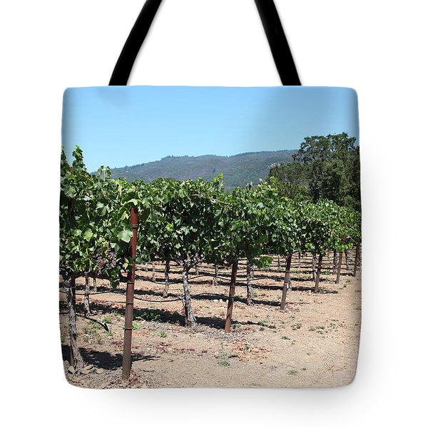 Sonoma Vineyards In The Sonoma California Wine Country 5d24492 Tote Bag by Wingsdomain Art and Photography