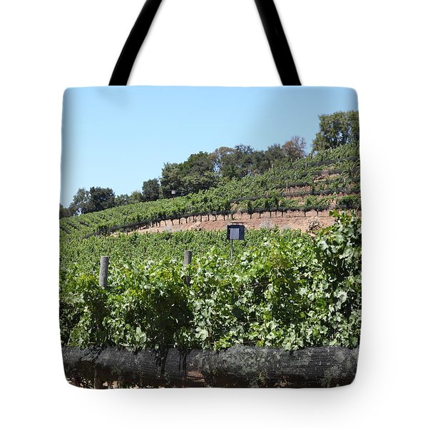 Sonoma Vineyards In The Sonoma California Wine Country 5D24503 Tote Bag by Wingsdomain Art and Photography