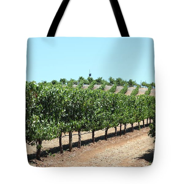 Sonoma Vineyards In The Sonoma California Wine Country 5d24506 Tote Bag by Wingsdomain Art and Photography