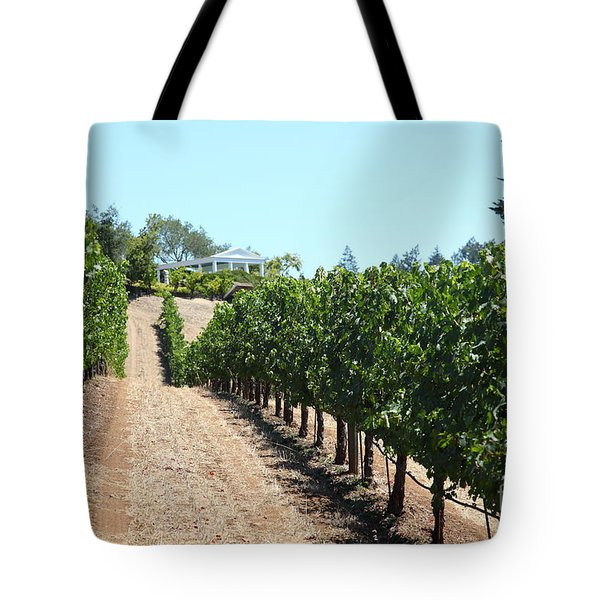 Sonoma Vineyards In The Sonoma California Wine Country 5D24507 Tote Bag by Wingsdomain Art and Photography