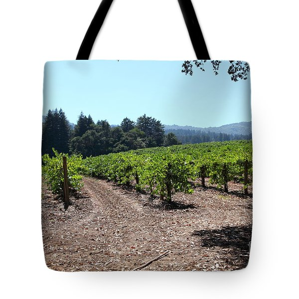 Sonoma Vineyards In The Sonoma California Wine Country 5d24511 Tote Bag by Wingsdomain Art and Photography