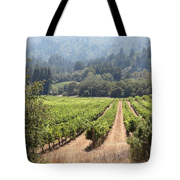 Sonoma Vineyards In The Sonoma California Wine Country 5d24515 Tote Bag by Wingsdomain Art and Photography