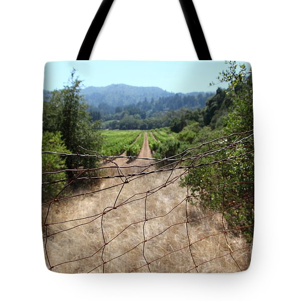Sonoma Vineyards In The Sonoma California Wine Country 5d24520 Tote Bag by Wingsdomain Art and Photography