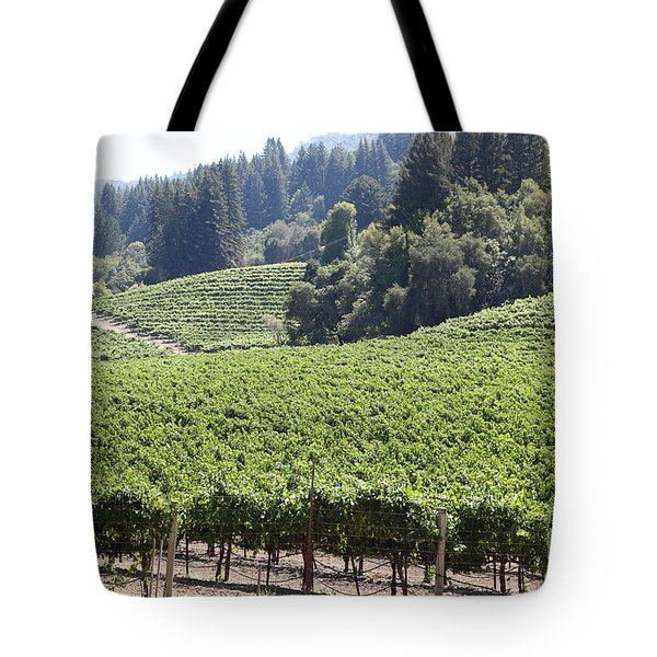 Sonoma Vineyards In The Sonoma California Wine Country 5d24539 Tote Bag by Wingsdomain Art and Photography