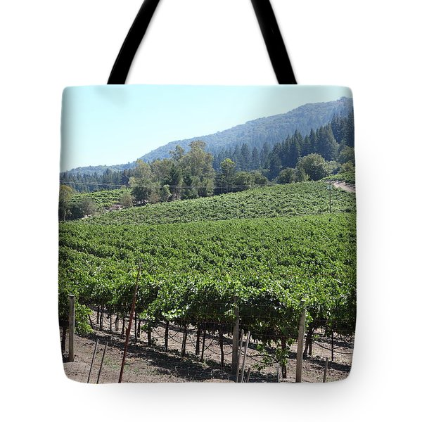 Sonoma Vineyards In The Sonoma California Wine Country 5d24541 Tote Bag by Wingsdomain Art and Photography