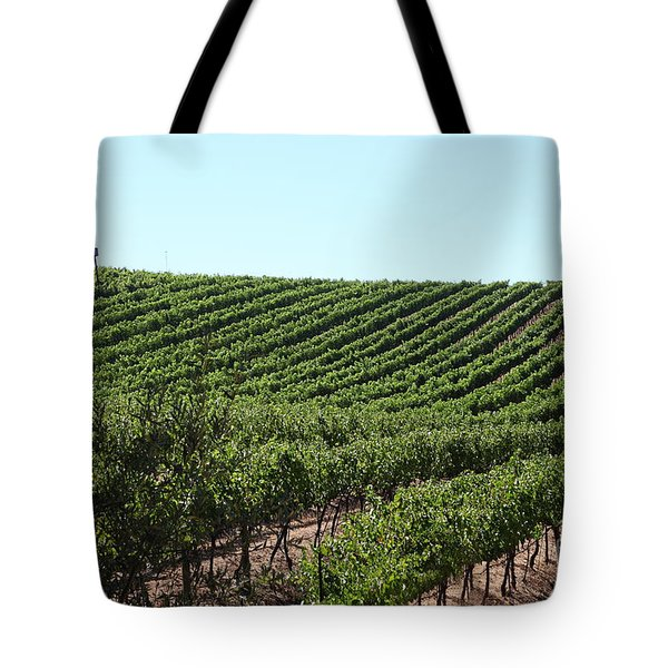 Sonoma Vineyards In The Sonoma California Wine Country 5d24588 Tote Bag by Wingsdomain Art and Photography