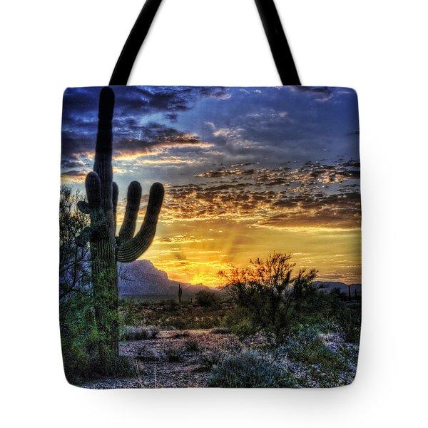 Sonoran Sunrise  Tote Bag by Saija  Lehtonen