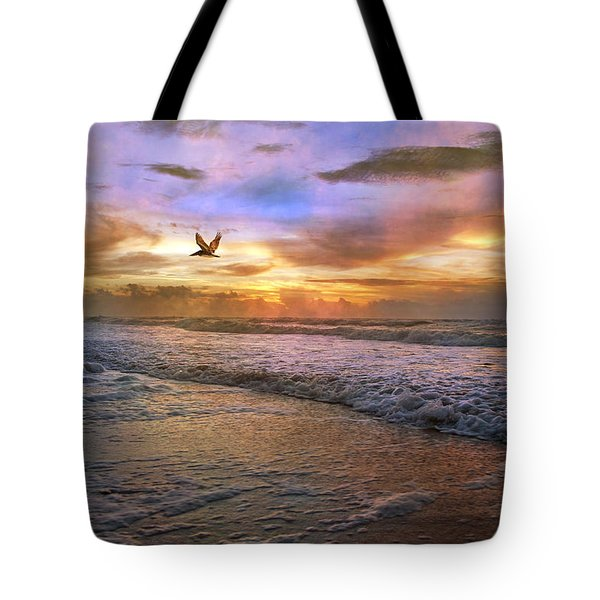 Soothing Sunrise Tote Bag by Betsy C  Knapp