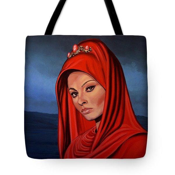 Sophia Loren Tote Bag by Paul Meijering