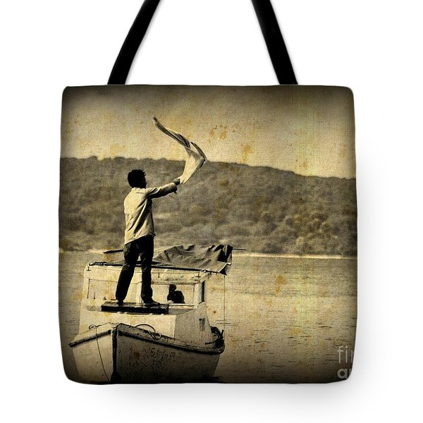 Sos   Need Gas To Get To Shore Tote Bag by John Malone