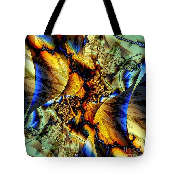 Sound Of Blue Lightning  Tote Bag by Elizabeth McTaggart