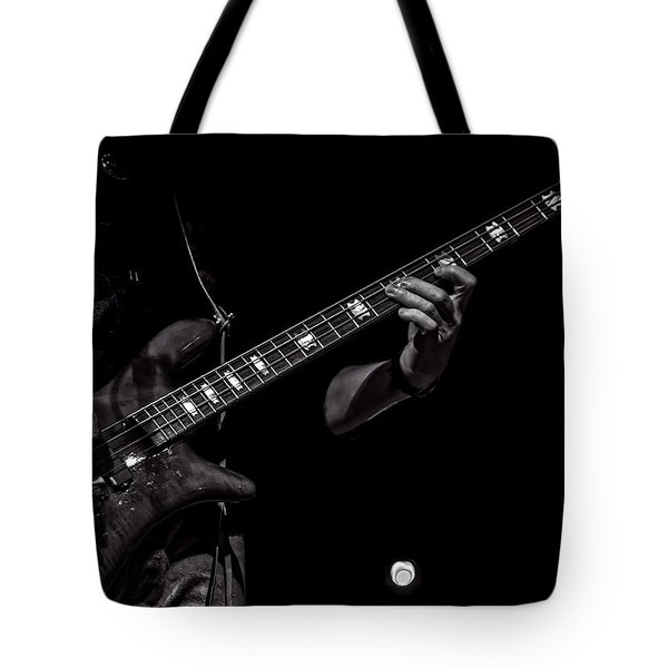 Sounds In The Night Bass Man Tote Bag by Bob Orsillo