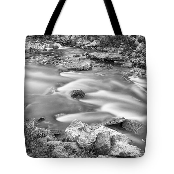 South Boulder Creek Little Waterfalls Rollinsville Bw Tote Bag by James BO  Insogna