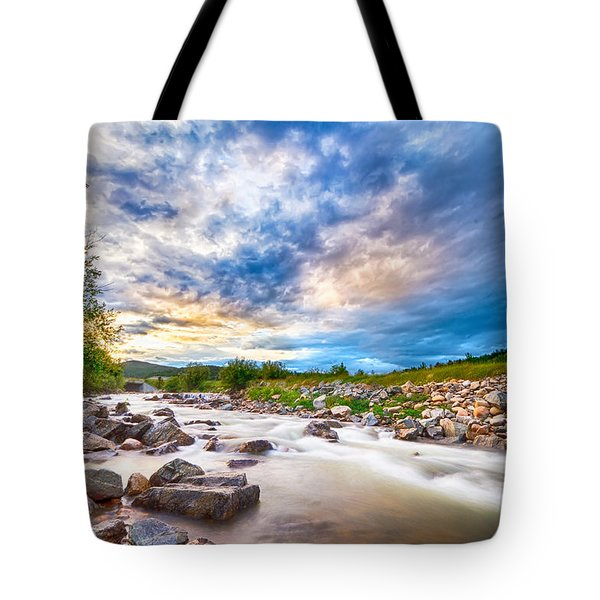 South Boulder Creek Sunset View Rollinsville Colorado Tote Bag by James BO  Insogna