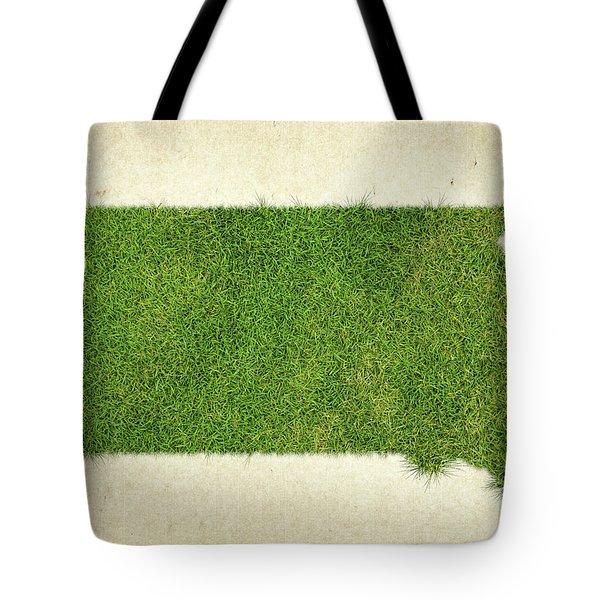 South Dakota Grass Map Tote Bag by Aged Pixel