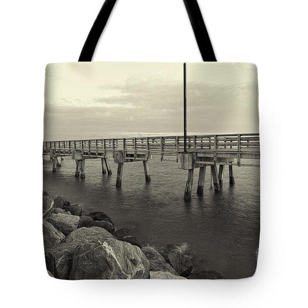 South Pointe Bridge In Sephia Tote Bag by Eyzen M Kim