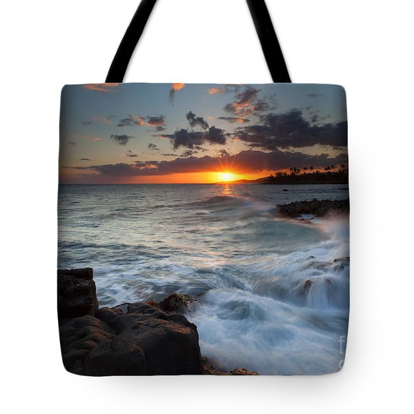 South Shore Waves Tote Bag by Mike  Dawson