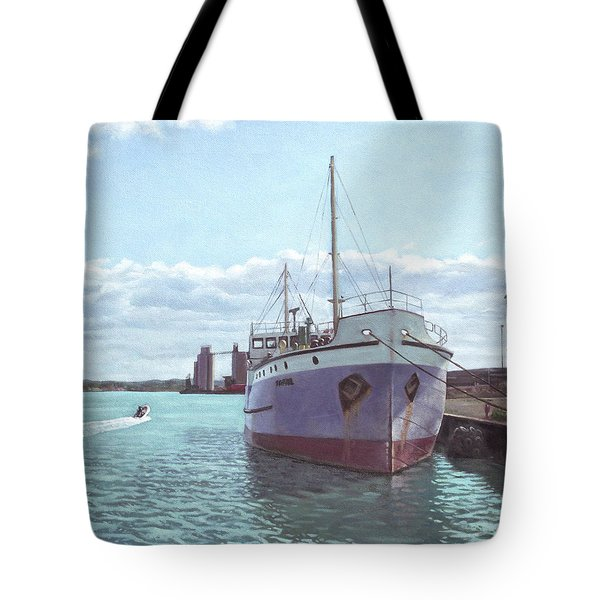Southampton Docks Ss Shieldhall Ship Tote Bag by Martin Davey