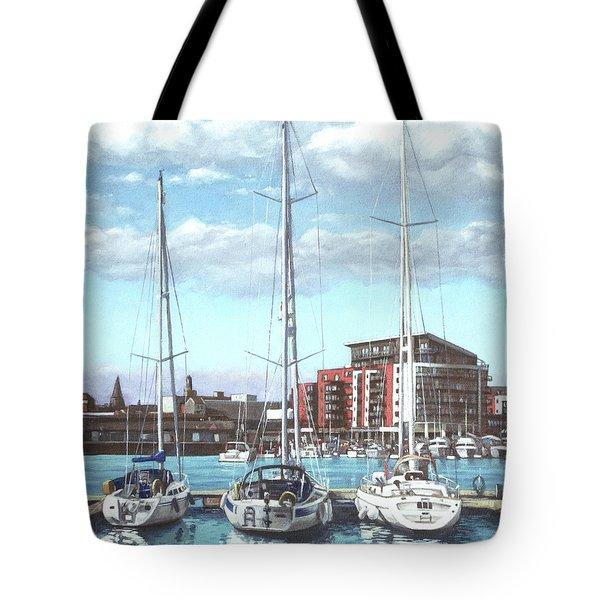 Southampton Ocean Village marina Tote Bag by Martin Davey