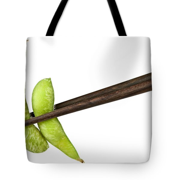 Soy Beans With Chopsticks Tote Bag by Elena Elisseeva