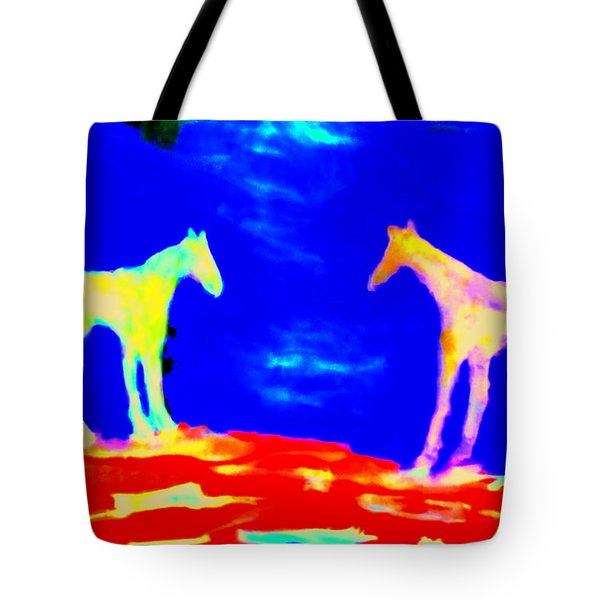 Space For Us Tote Bag by Hilde Widerberg